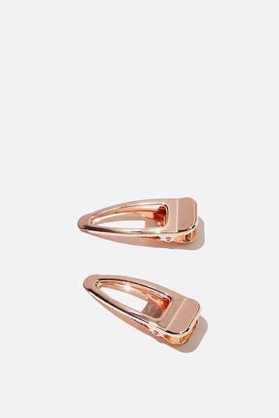 Meghan Salon Hair Slide, ROSE GOLD