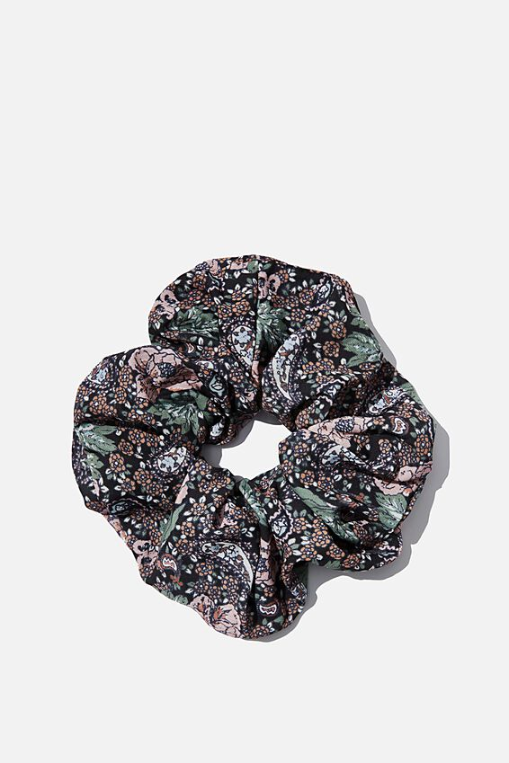 Super Scrunchie, EMILY PAISLEY FLORAL BLACK