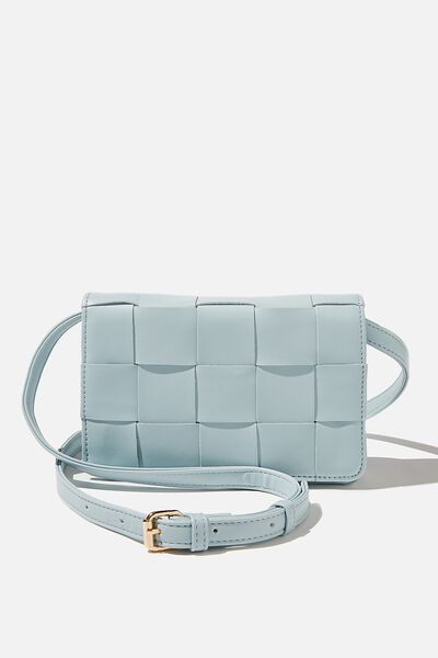 Christy Woven Cross Body Bag, ILLUSION BLUE