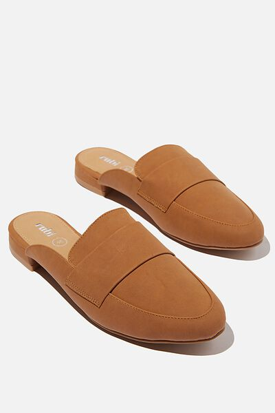 Milly Structured Mule, TAN NUBUCK