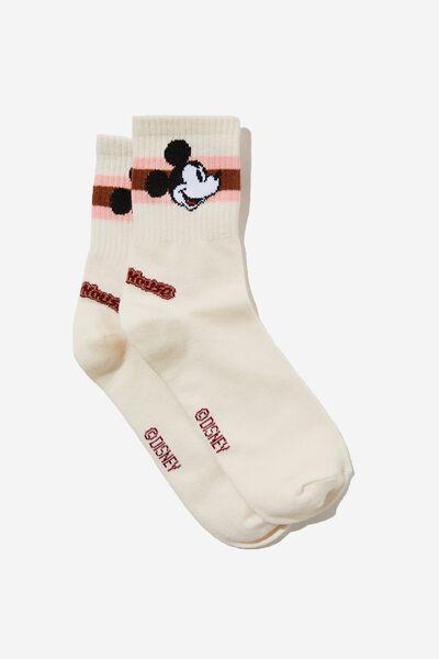 Fine Rib Sports Sock, LCN DIS MICKEY ADVENTURE