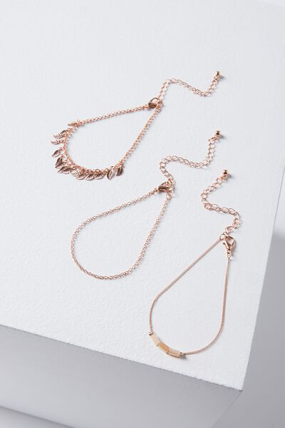 Hampton Bracelet Set, ROSE GOLD