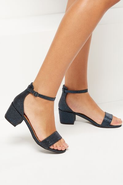 Ivy Low Block Heel, ECLIPSE METALLIC