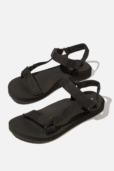 Stormy Sporty Sandal, BLACK