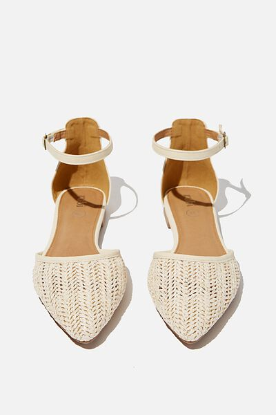 Naomi Ankle Strap, OFF WHITE RAFFIA/OFF WHITE NUBUCK