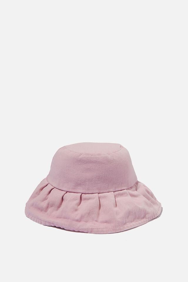 Gabby Gathered Brim Bucket Hat, SOFT MAUVE