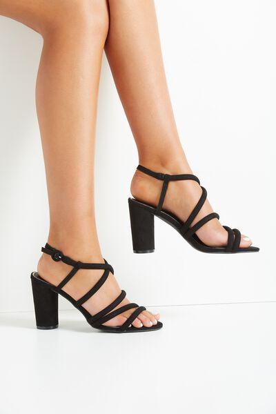 Sangria Heel, BLACK
