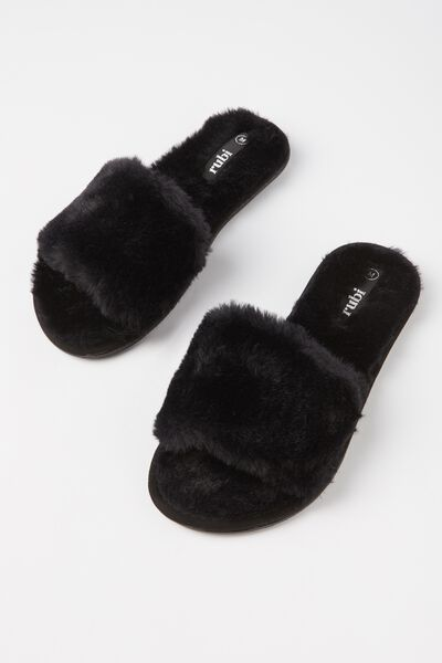 Cosmopolitan Slipper Slide, BLACK