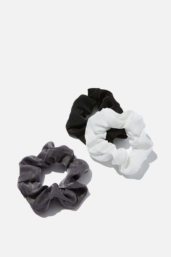 3Pk Scrunchies, MONO SATIN TRIO