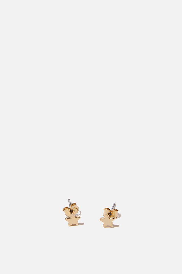Premium Stud Earrings, GOLD PLATED STAR