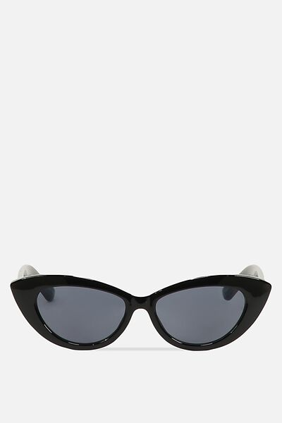 Delilah Cat Eye Sunglasses, BLACK