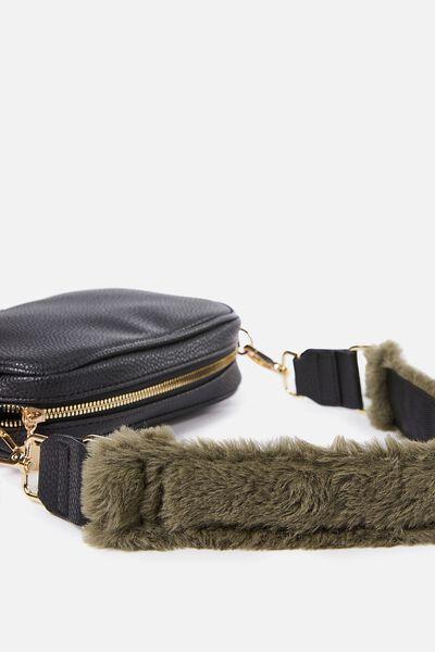 Short Bag Strap, KHAKI PLUSH