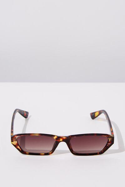 Marian Angular Sunglasses, TORT