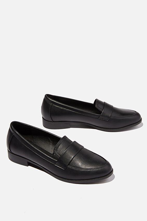 Penny Structured Loafer, BLACK PU