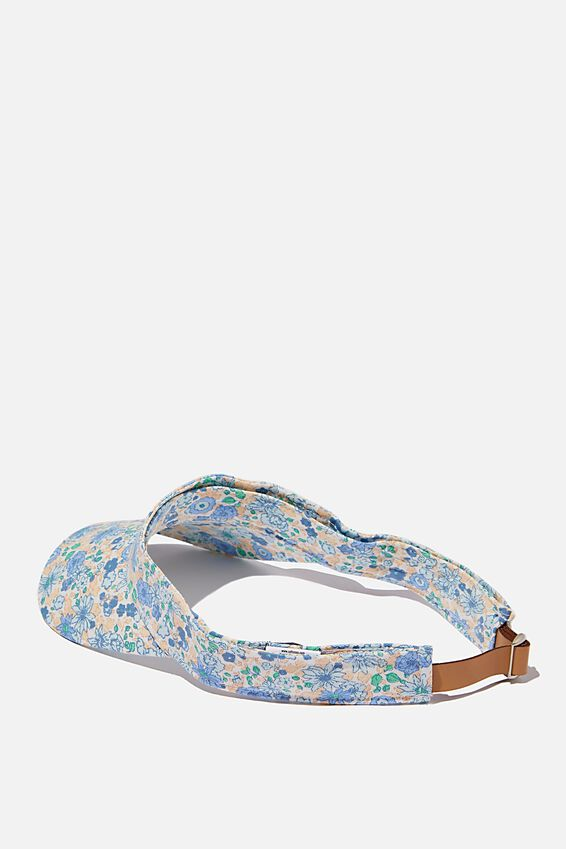 Zoey Visor Hat, ILLUSION BLUE DITSY FLORAL