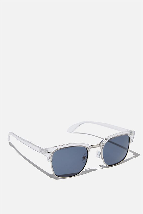 Zoey Sunglass, CLEAR/BLUE