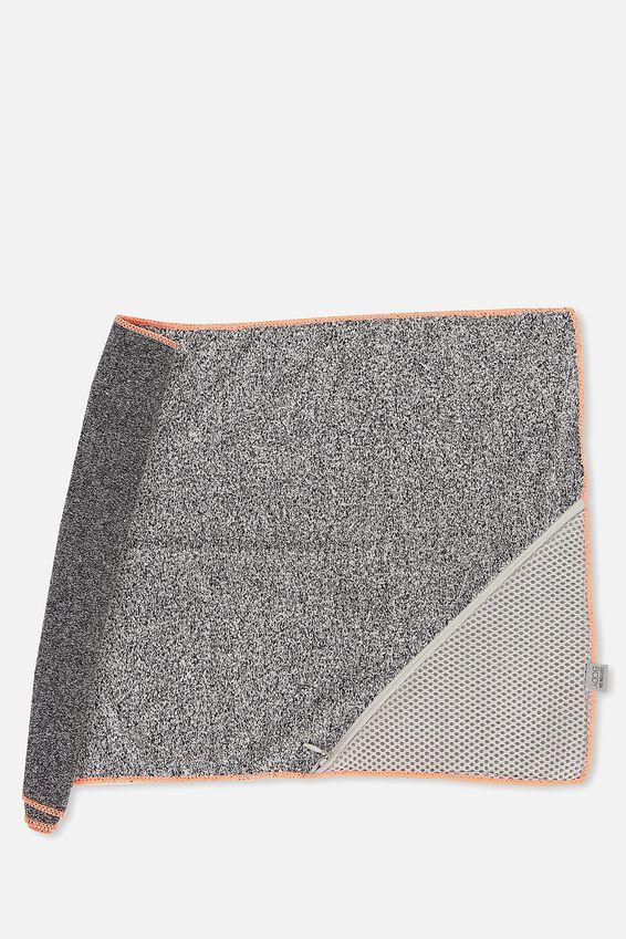 Active Zip Towel, SALT & PEPPER
