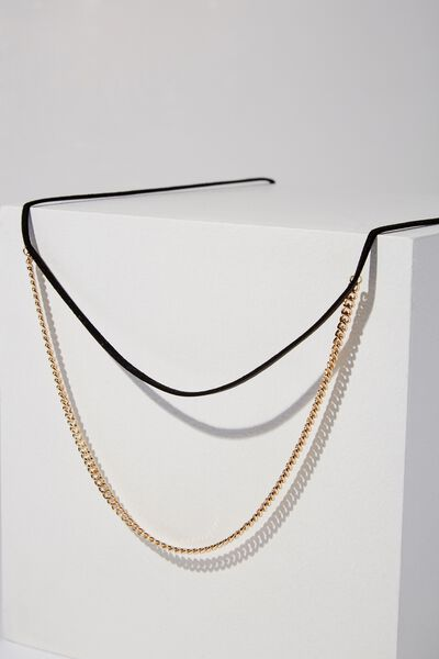 Morocco Necklace, GOLD/BLACK