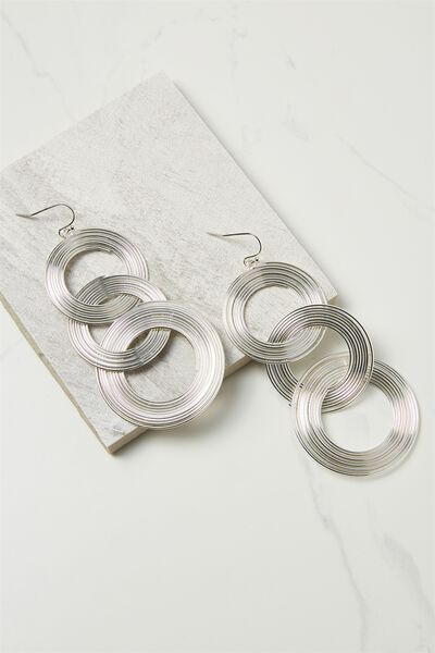 Entwined Metal Earring, SILVER