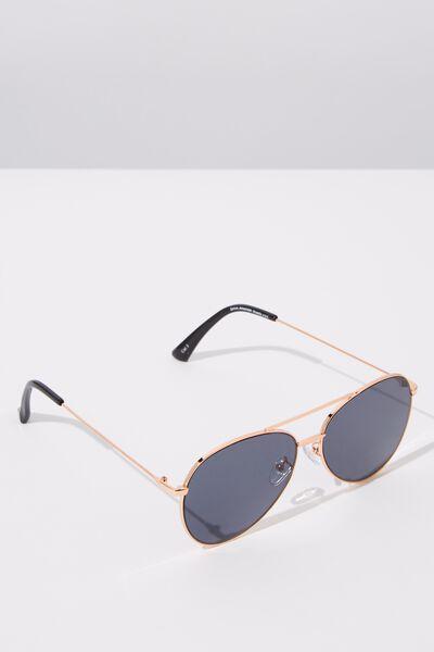 Dana Aviator Sunglasses, S. GOLD GREY