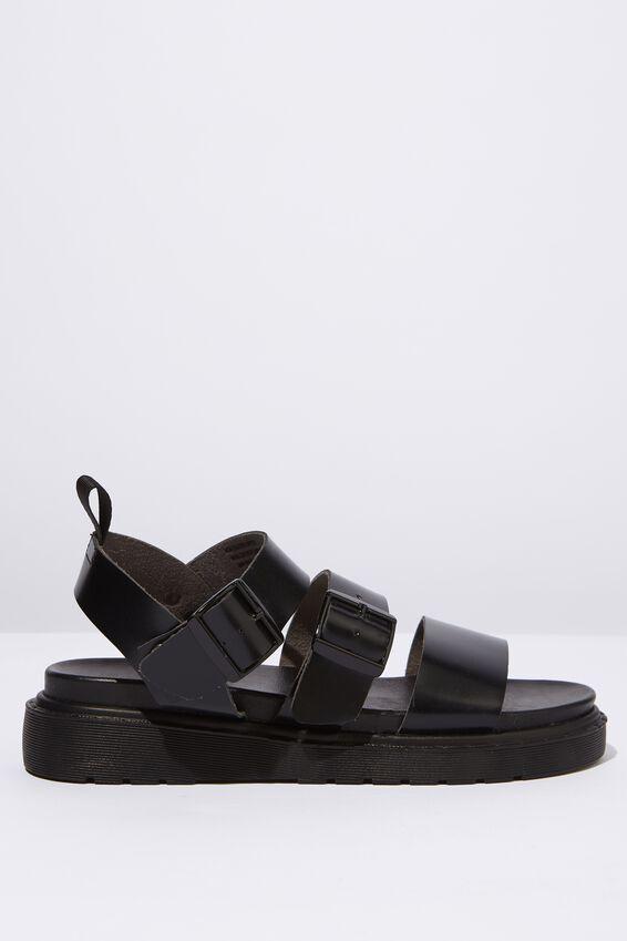 Kim Combat Sandal, BLACK
