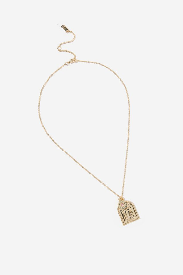 Premium Zodiac Necklace, GOLD PLATED LIBRA
