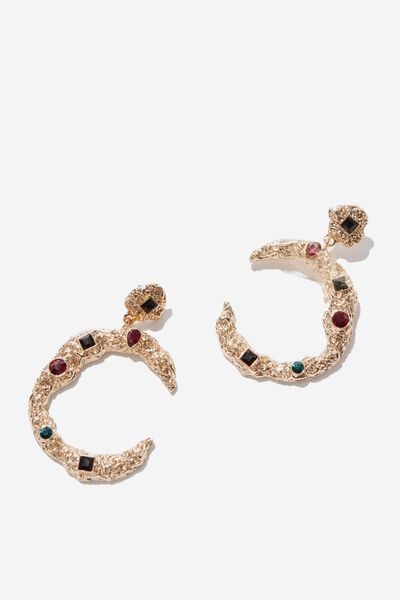 Angie Baroque Earring, GOLD/MULTI