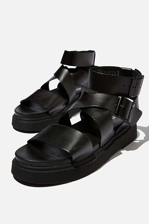 Gladiator Combat Sandal, BLACK