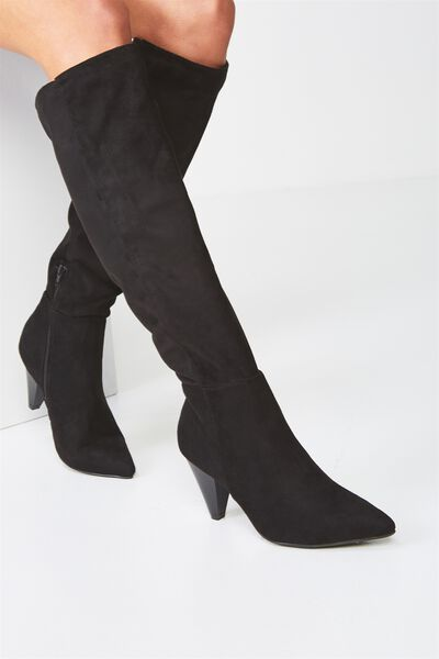Prince Slouch Boot, BLACK MICRO