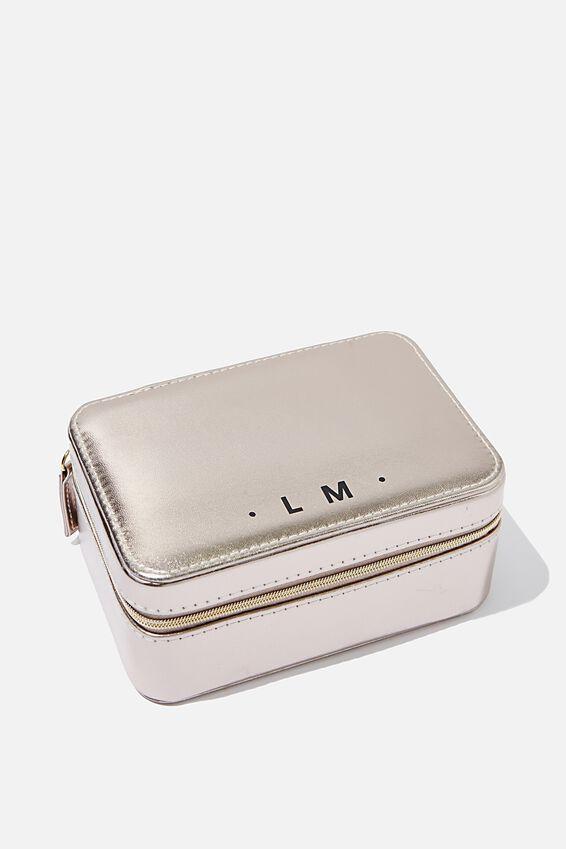 Personalised Medium Jewellery Box, ROSE GOLD