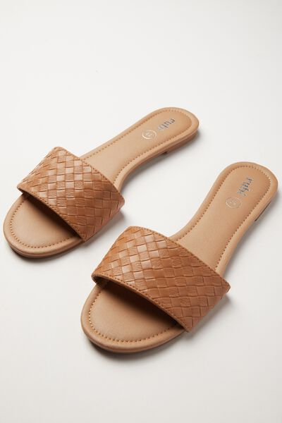 Everyday Slide, CINNAMON WOVEN PU