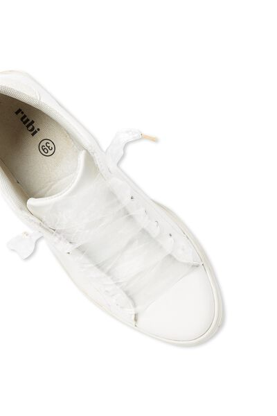 Laced Up Shoelaces, WHITE CHIFFON