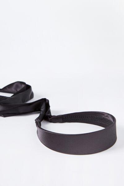Alice Tie Back Headband, BLACK