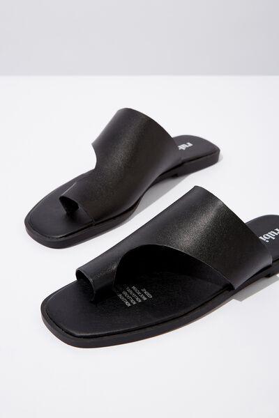 Bianca Asymmetric Slide, BLACK