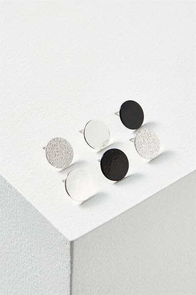 Claire Core Stud Pack, SILVER
