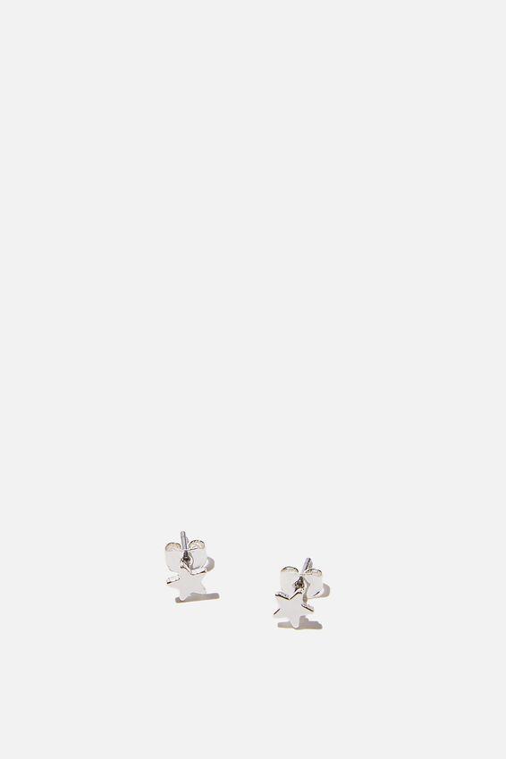 Premium Stud Earrings, STERLING SILVER PLATED STAR