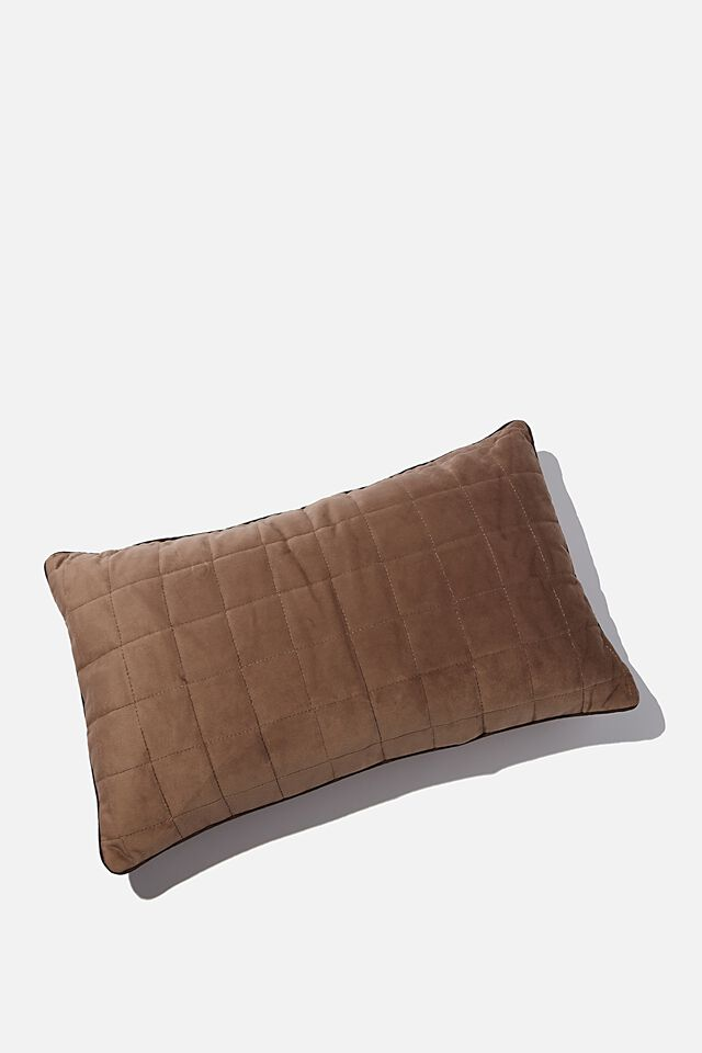 Quilted Cushion, COCOA BEAN
