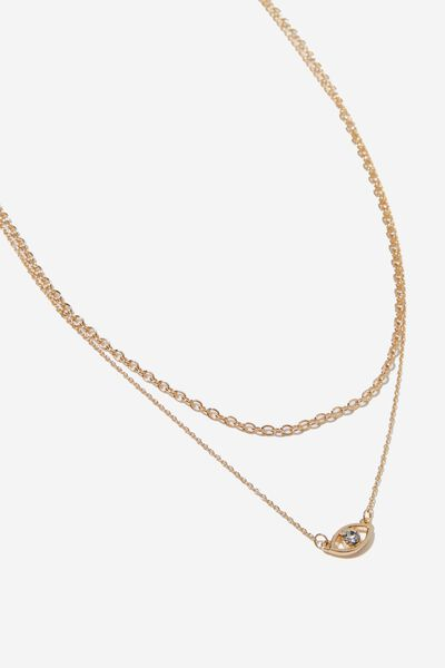 Hypnotized Classic Necklace, GOLD