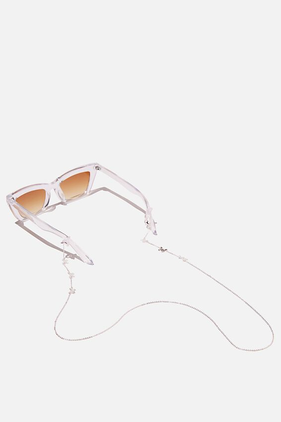 Ava Glasses Chain, BUTTERFLY SILVER