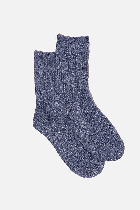 Sparkle Sock, VINTAGE BLUE