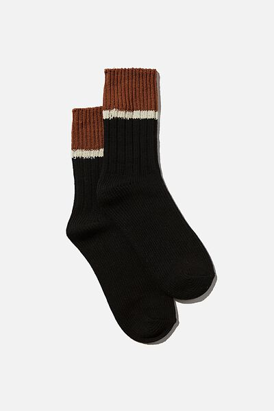 Weekend Sock, BLACK