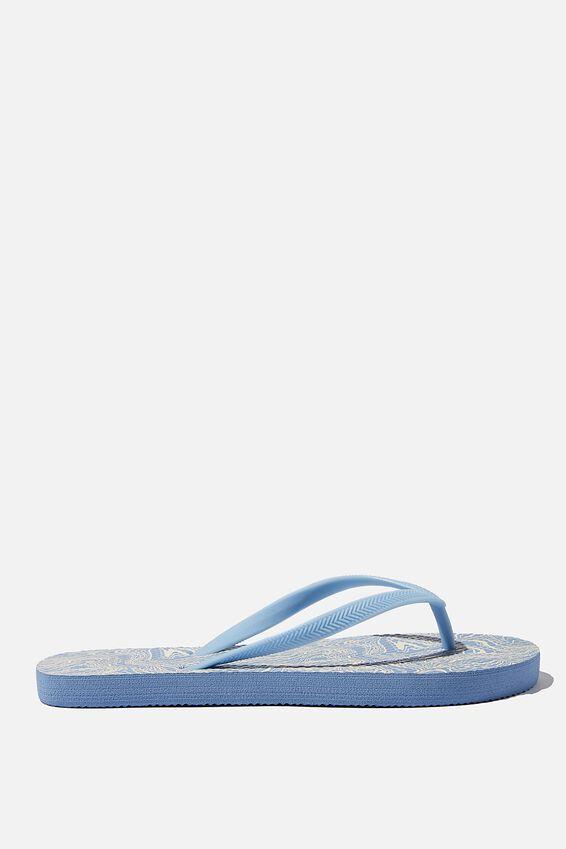 The Rubi Flip Flop, BLUE SWIRL