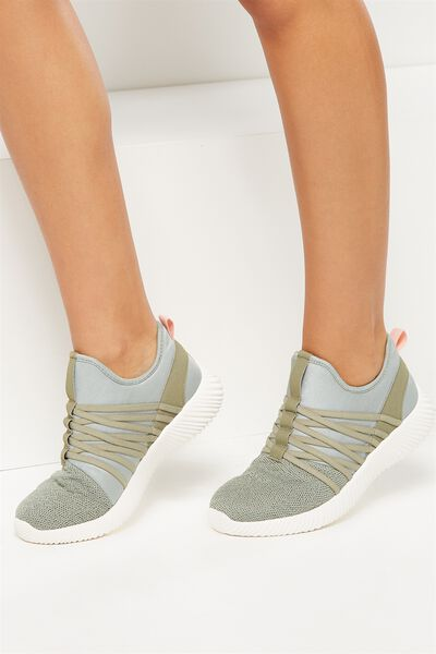 Faith Sock Trainer, KHAKI SPLICE