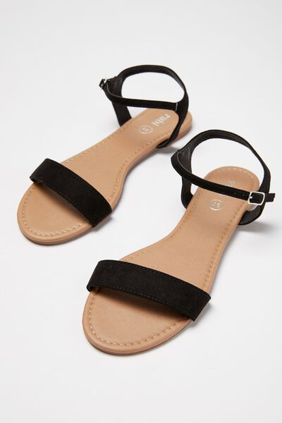 Everyday Thin Strap Sandal, BLACK MICRO