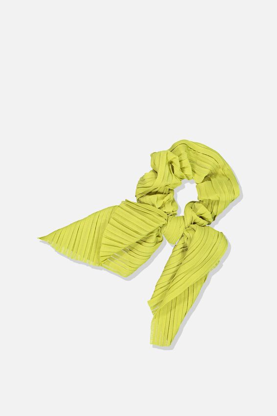 Maddison Scarf Scrunchie, ANTIQUE MOSS CRINKLE PLEAT