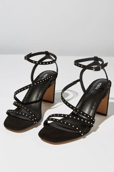 Dianna Diamante Heel, BLACK