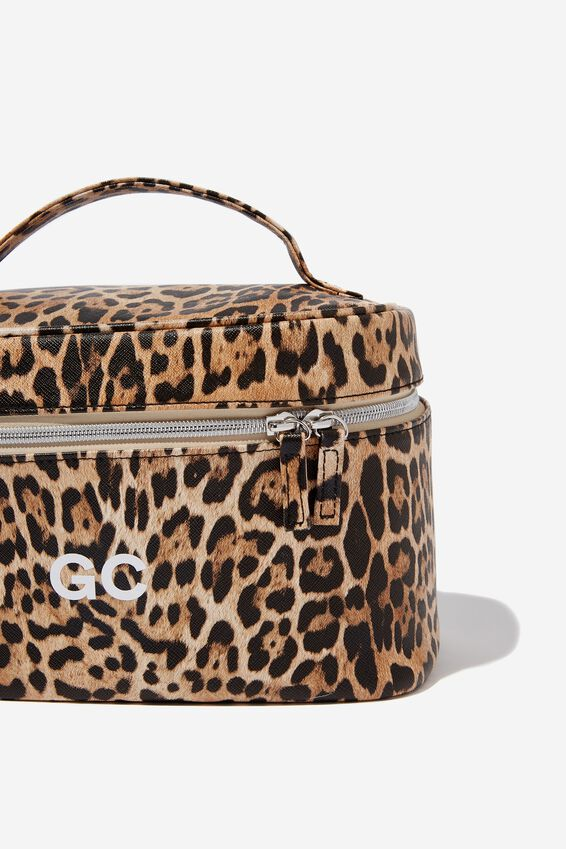 Personalised Large Structured Cosmetic Case, NATURAL LEOPARD
