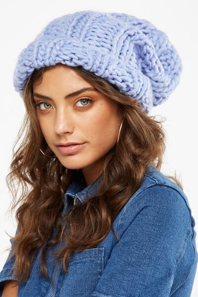 Lazy Days Rib Beanie, LILAC