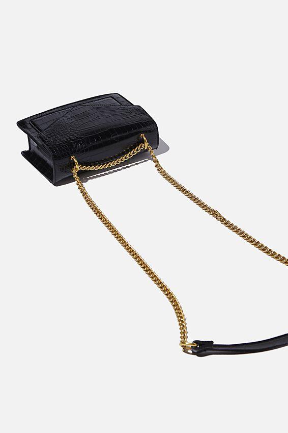 Lucky Envelope Bag, BLACK TEXTURE