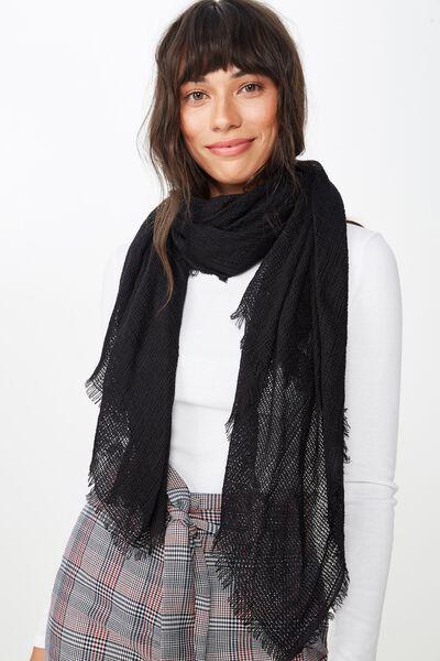 Winter Weave Scarf, BLACK